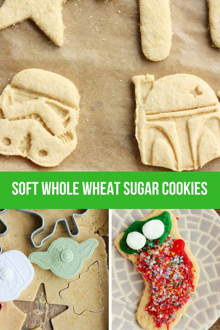 Delicious and Soft Whole Wheat Sugar Cookies are the best sugar cookies you'll ever try. So soft that no one will know they're whole grain AND healthier. via @https://www.pinterest.com/frugalbychoice/