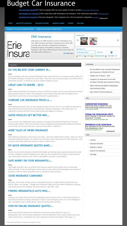 We provide budget car insurance information car insurance