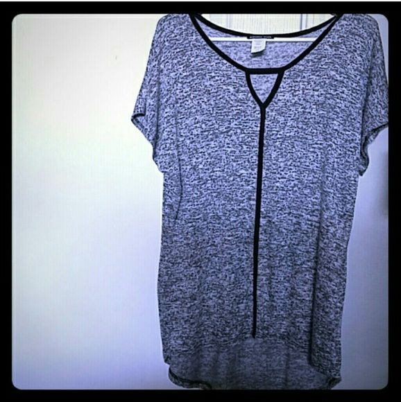 Grey Slouchy Top Super cute, grey slouchy top. Stretchy, cotton material. Bundle and save on shipping Tops
