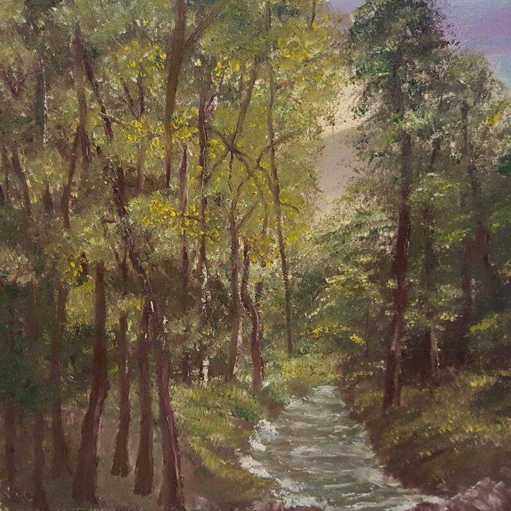 Soaptele padurii - acrilice (40x40cm)                                      Forest whispers        by           Veronica Ciobanu