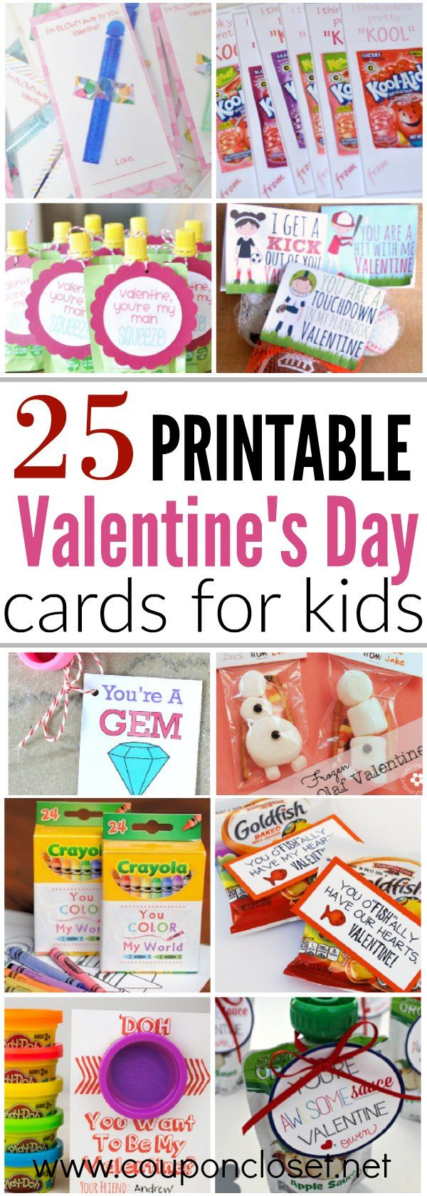 25 quick and easy Printable Valentines Day Cards for kids that you can print at home. 25 free Valentine Cards that you can easily make at home.