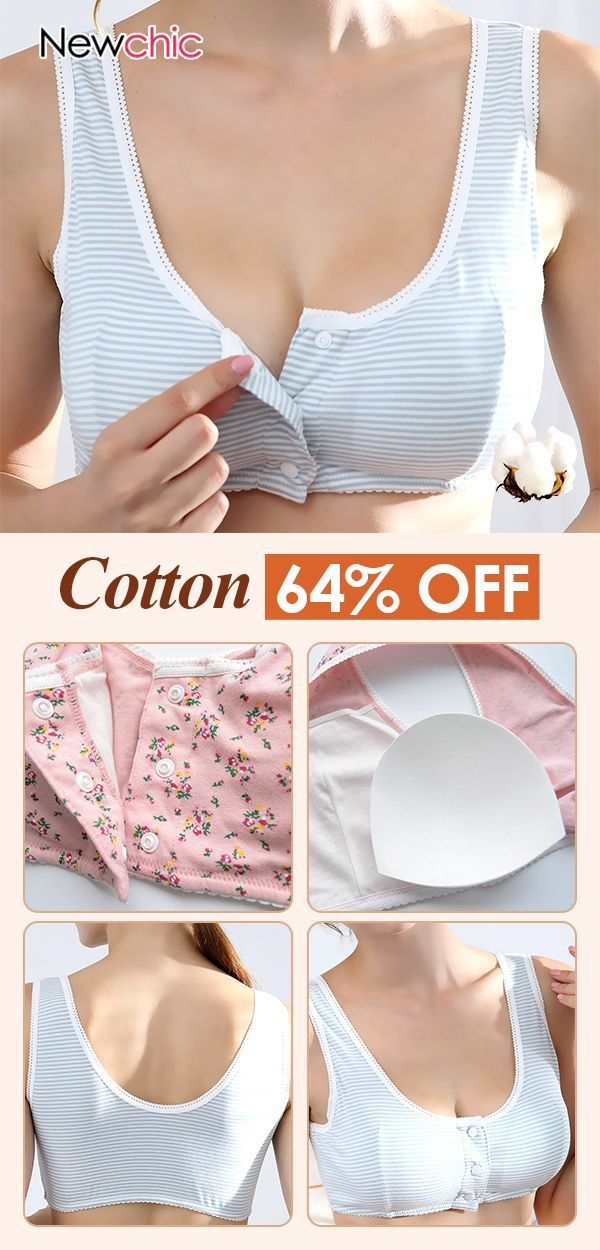 c52039e44c Cotton Front Button Lightly Lined Printing Wireless Bras  cotton  button   bras