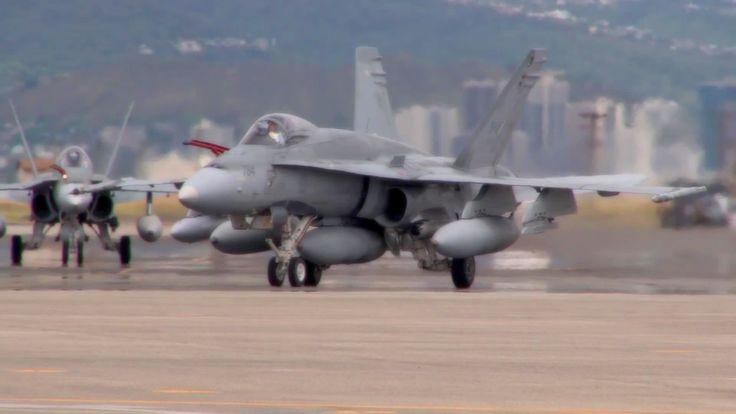 Canadian CF-18 Hornet Fighter Jets Landing - xxDxx