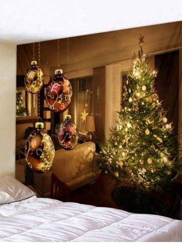 Christmas Tree Ball Tapestry Wall Home Decoration Back wall