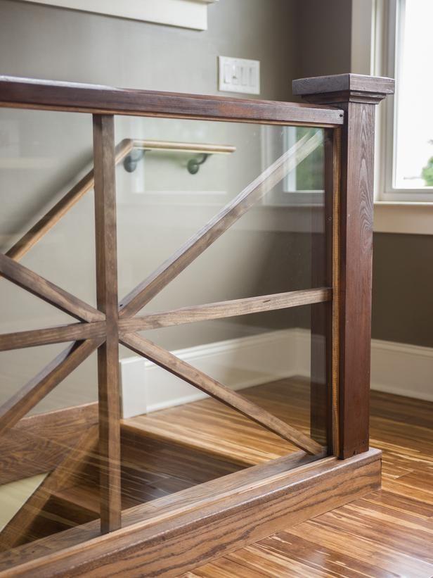Glass and Wood Ballustrade
