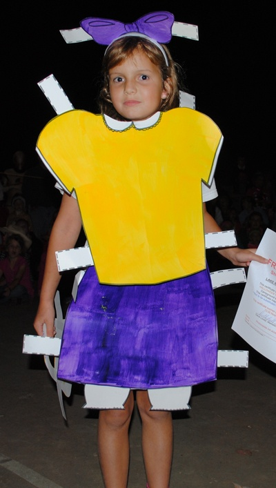 Paper Doll Costume At The Contest During Halloween Weekends