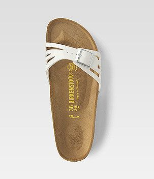 Birkenstock Madrid white with cut-outs