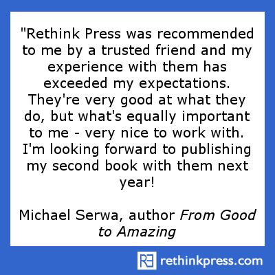"Michael Serwa, author ""From Good To Amazing"""