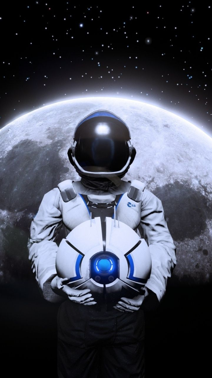 Deliver Us The Moon Astronaut 2018 720x1280 Wallpaper Cosmic Art Hd Wallpaper Space Illustration