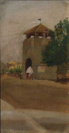 Telemaco Signorini (Firenze 1835-1901) (attr.) Veduta fiorentina (Porta al Prato), 1875 ca