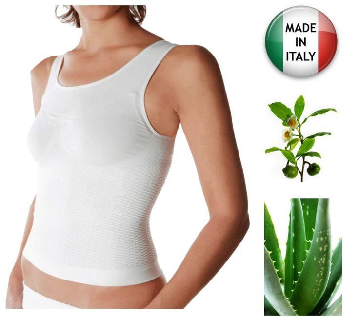 Canotta snellente anticellulite, massaggiante contenitiva con Aloe vera e tè verde