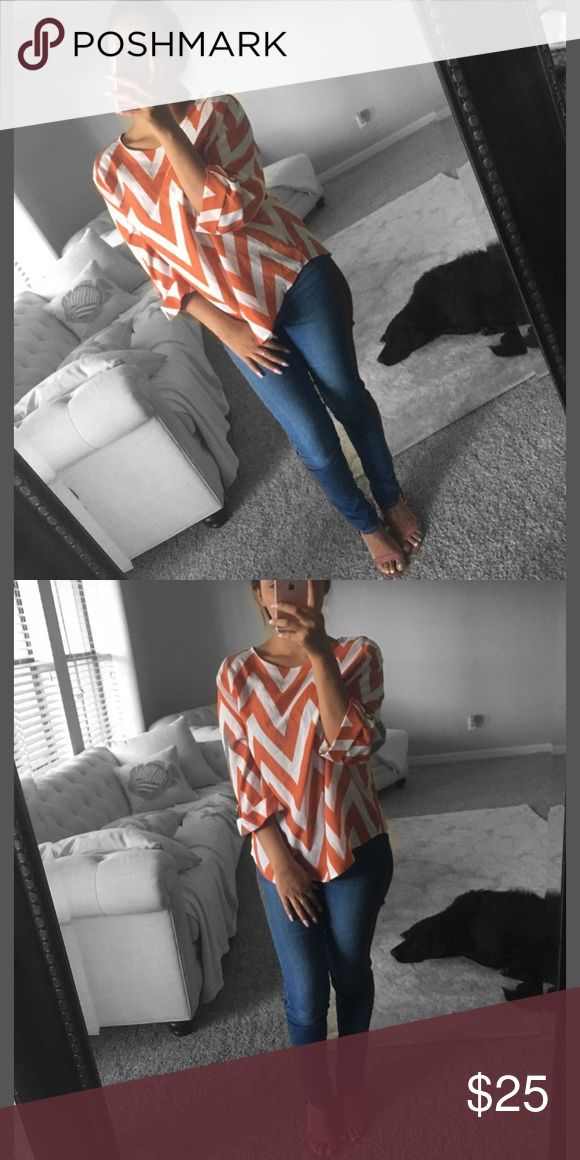 Chevron Top👚😍❤️ Brand new top! Please feel free to request more pictures or detail info if interested📫 Francesca's Collections Tops Blouses