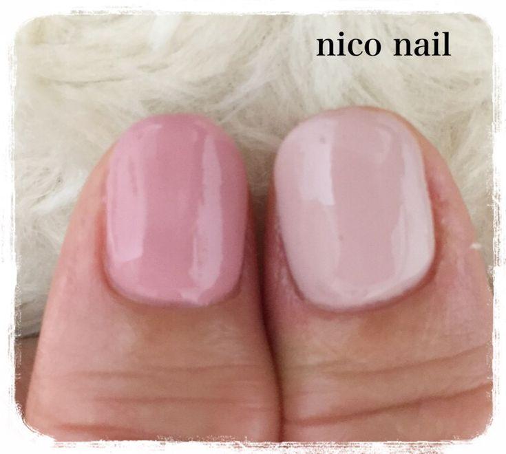 浜松市 中区 自宅ネイルサロン nico nail ニコネイル:上品ピンクの大人ネイル