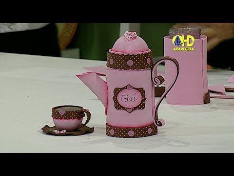 Sabor de Vida Artesanatos | Porta Chá de EVA por Paty Maciel - 18 de Mai...
