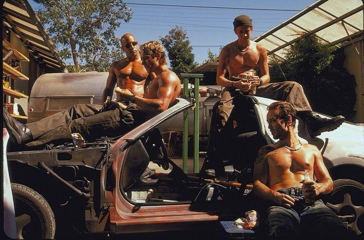 Vin Diesel, Chad Lindberg, Johnny Strong, and Paul Walker in Halálos iramban (2001)