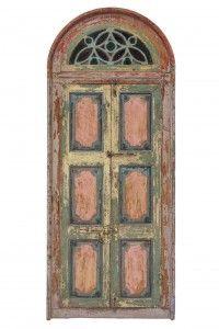 puerta policromada