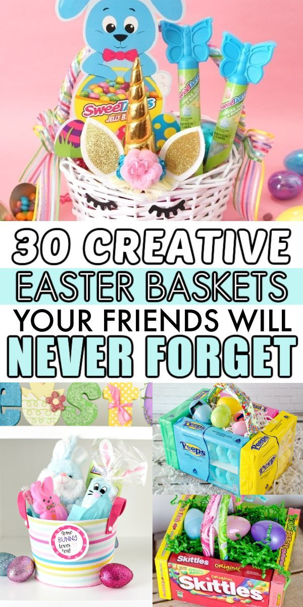 30 Best Diy Easter Baskets For Adults And Children In 2021 Kids Easter Basket Easter Basket Themes Easter Diy
