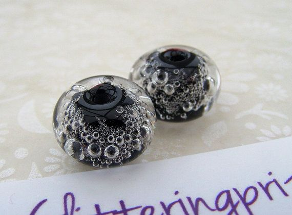 glass lampwork beads neon clear bubbles by for jewellery making