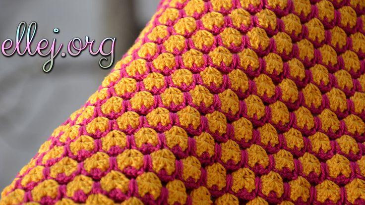 "Узор крючком ""Джелли"". Crocheted Jelly Stitch"