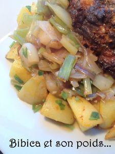 Poêlée de poireaux et pommes de terre rissolées à l'ail des ours