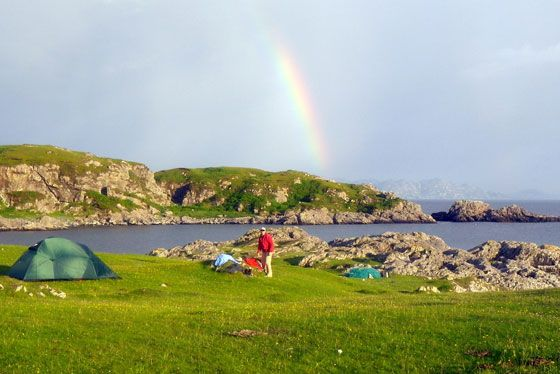 5 Best Places to Camp in Scotland - Canoe and hike and camp Scotland
