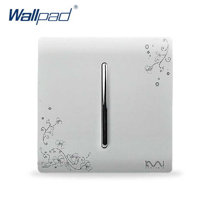 2017 Hot Sale Wholesaler Wallpad Luxury Wall Light Switch Panel Flower Design 110~250V 1 Gang 1 Way Switch