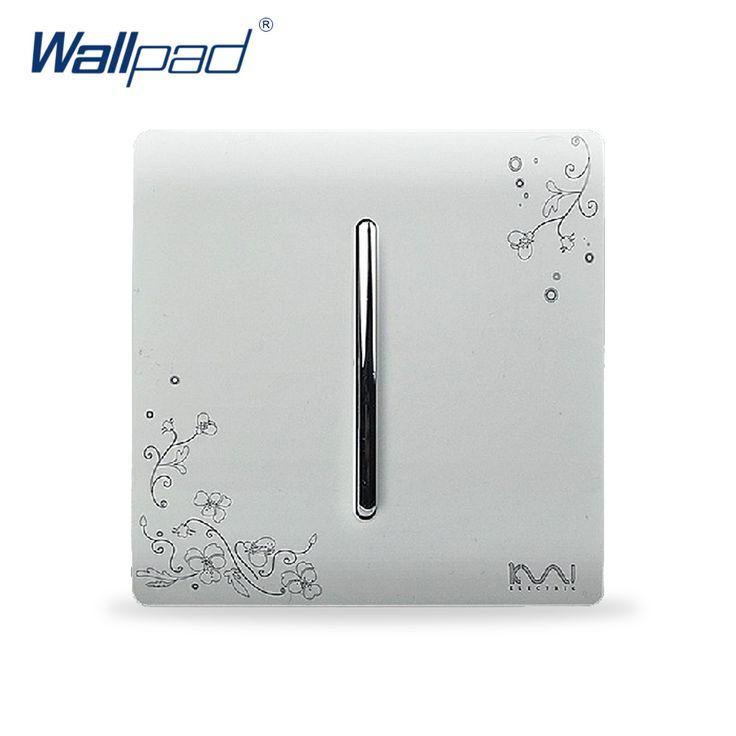 2017 Hot Sale Wholesaler Wallpad Luxury Wall Light Switch Panel Flower Design 110~250V 1 Gang 1 Way Switch