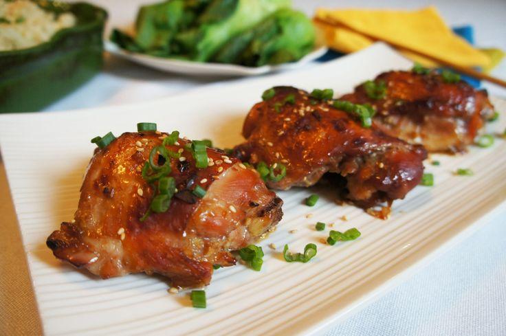 "Paleo Teriyaki Chicken & Toasted Coconut Cauliflower ""Rice"""