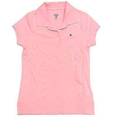 Tommy Hilfiger Big Girls Polo Shirt Classic Fit Collared Kids Top Children V012