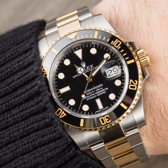 Iconic Necessity: The Rolex Submariner Two Tone. #luxurywatch  #rolex #rolexero…