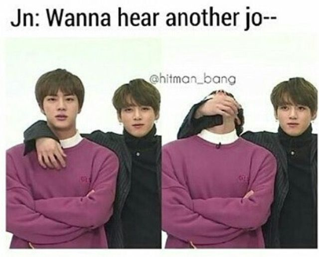 sometimes we jin, sometimes we just have to jungkook lmfao this is 2real