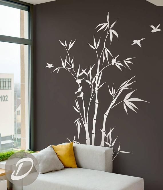 Bamboo Tree Forest Wall Decal Large Nursery Wall Decal Bamboo Stalks Wall Decor Removable Tree Decal Wall Decor Art Am044 Forest Wall Decals Nursery Wall Decals Tree Wall Decal