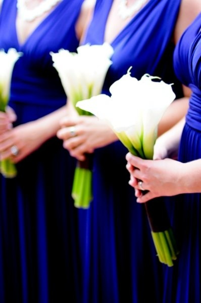 simple calla lily bouquet for bridesmaids