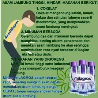 asam lambung tinggi dan sering kambuh? Milagros solusinya...Milagros, miracle inside..more info www.milagros.co.id