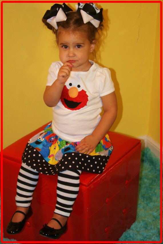 Elmo Birthday Girl Skirt Outfit  EVERYDAY by SweetSophiaBowtique, $42.99