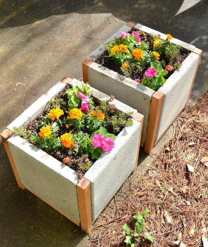 How To Build A Paver Planter Dihworkshop Planter Boxes