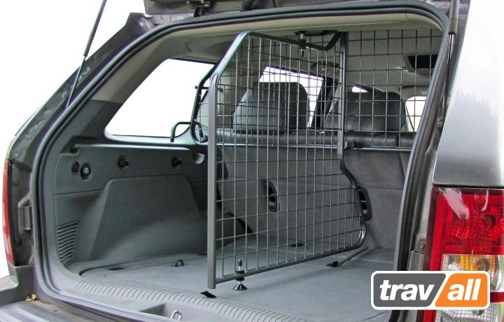 Divider for Jeep Grand Cherokee 2005-2011.  Ideal for a safe and secure boot area and is a vehicle specific fit.  The dog guard will stop dogs jumping over seats and increase passenger safety whereas the divider can divide the boot in two to maximise the full storage capacity of your boot safely.  These guards and dividers are designed to be non-rattle, will mount using existing vehicle attachments and developed to work with Travall dog guards, boot mats, dividers and bumper protectors.