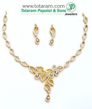 Totaram Jewelers: Buy 22 karat Gold jewelry & Diamond jewellery from India: Diamond Necklace Sets