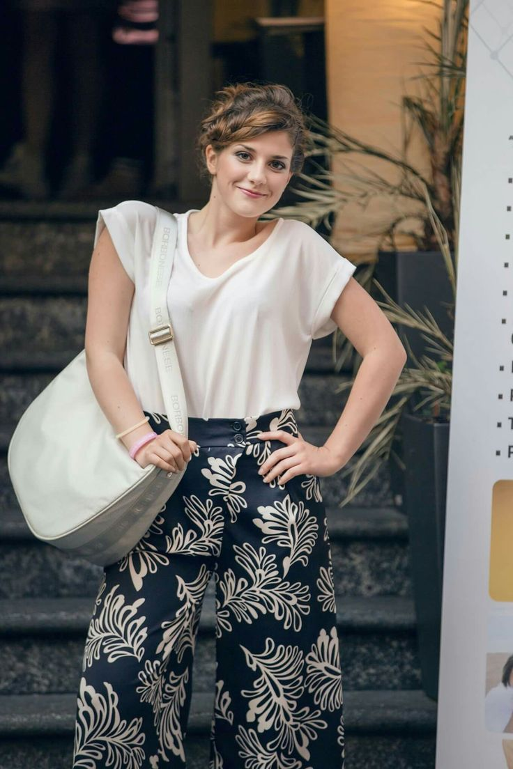 Margherita with Luna Bag Borbonese for Ambro's Fashion Party