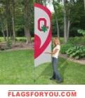 "Ohio State Buckeyes ""O"" Tall Team Flag 8.5' x 2.5'"