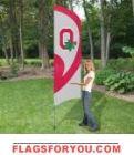 "Ohio State Buckeyes ""O"" Tall Team Flag 8.5' x 2.5'"