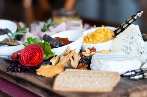 A delicious brunch is served to guests and absolutely enjoyed by them