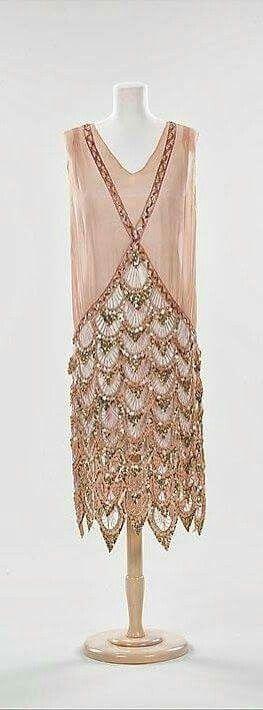 French Dress - 1925 - Silk, rhinestones - The Metropolitan Museum of Art.