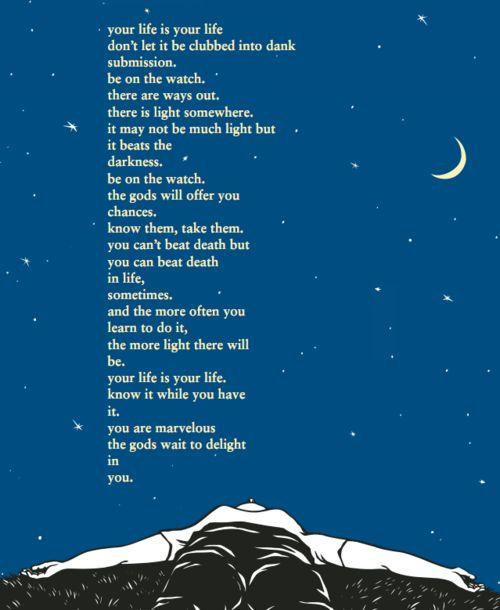 My favorite Charles Bukowski poem.