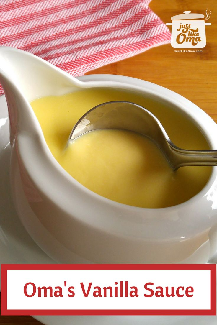 German vanilla sauce is a perfect accompaniment to so many desserts. Served it over some freshly baked apple strudel or over some chocolate pudding. Yummy! So wunderbar and so easy to make.  Check it out: http://www.quick-german-recipes.com/vanilla-sauce-recipe.html  ➤ Oma Gerhild ❤️