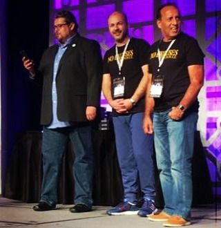On stage with the author of Attraction Marketing Formula being recognized by achieving a certain amount of sales. Lots of information and strategies learned from the speakers. If you're ready to change the way you're building your business check the link in my bio!!!