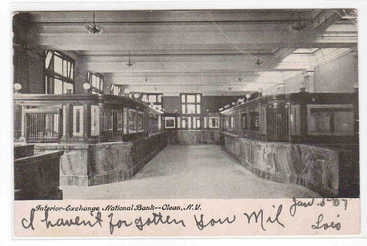 Exchange National Bank Interior Olean New York 1907 postcard - bidStart (item 33307803 in Postcards... Other)