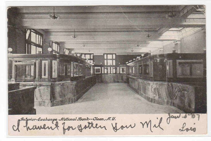 Exchange National Bank Interior Olean New York 1907 postcard - bidStart (item 33307803 in Postcards... Other)