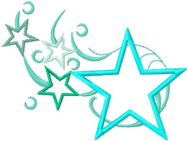 Stickmuster Stickdatei Embroidery Design Star Stern by www.Stickmuster.org. Dein Shop für Stickmuster / Stickdateien. Your Embroidery Designs Shop.