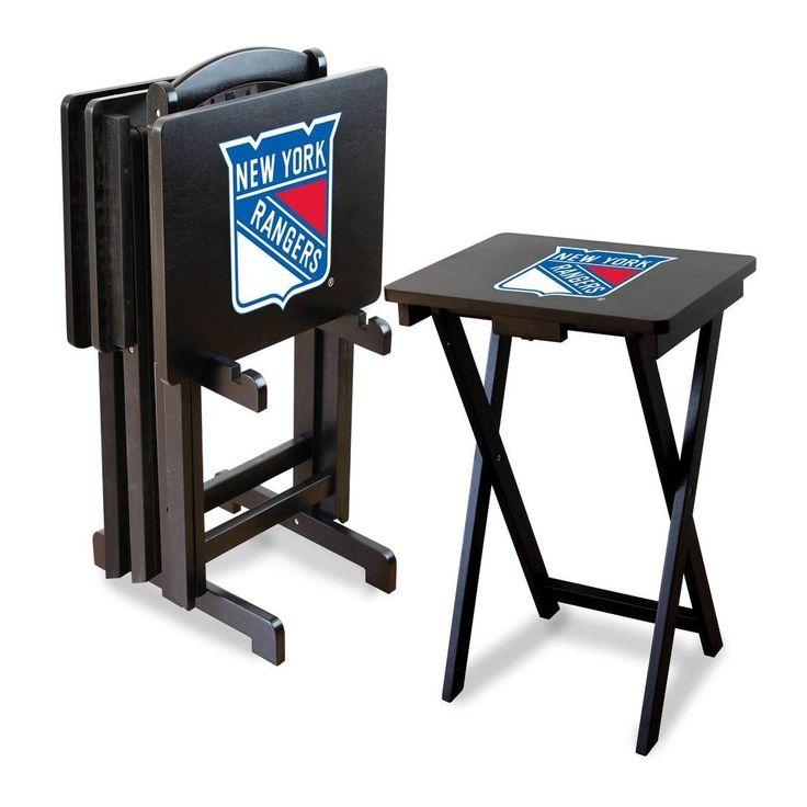 Imperial Official Licensed NHL Hockey TV Snack Trays with Storage Rack